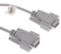 6ft. DB-9 Female to DB-9 Female Null Modem Cable Beige