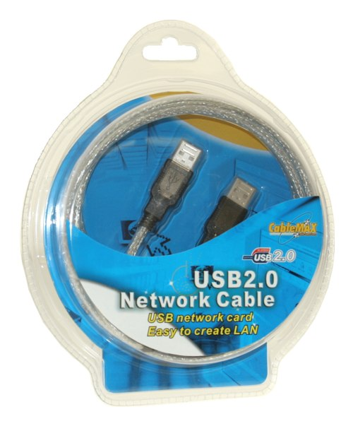 Network USB 2.0 SuperLink Cable by CableMax TCP/IP EasyLink