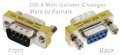 DB9 M/F MINI GENDER CHANGER