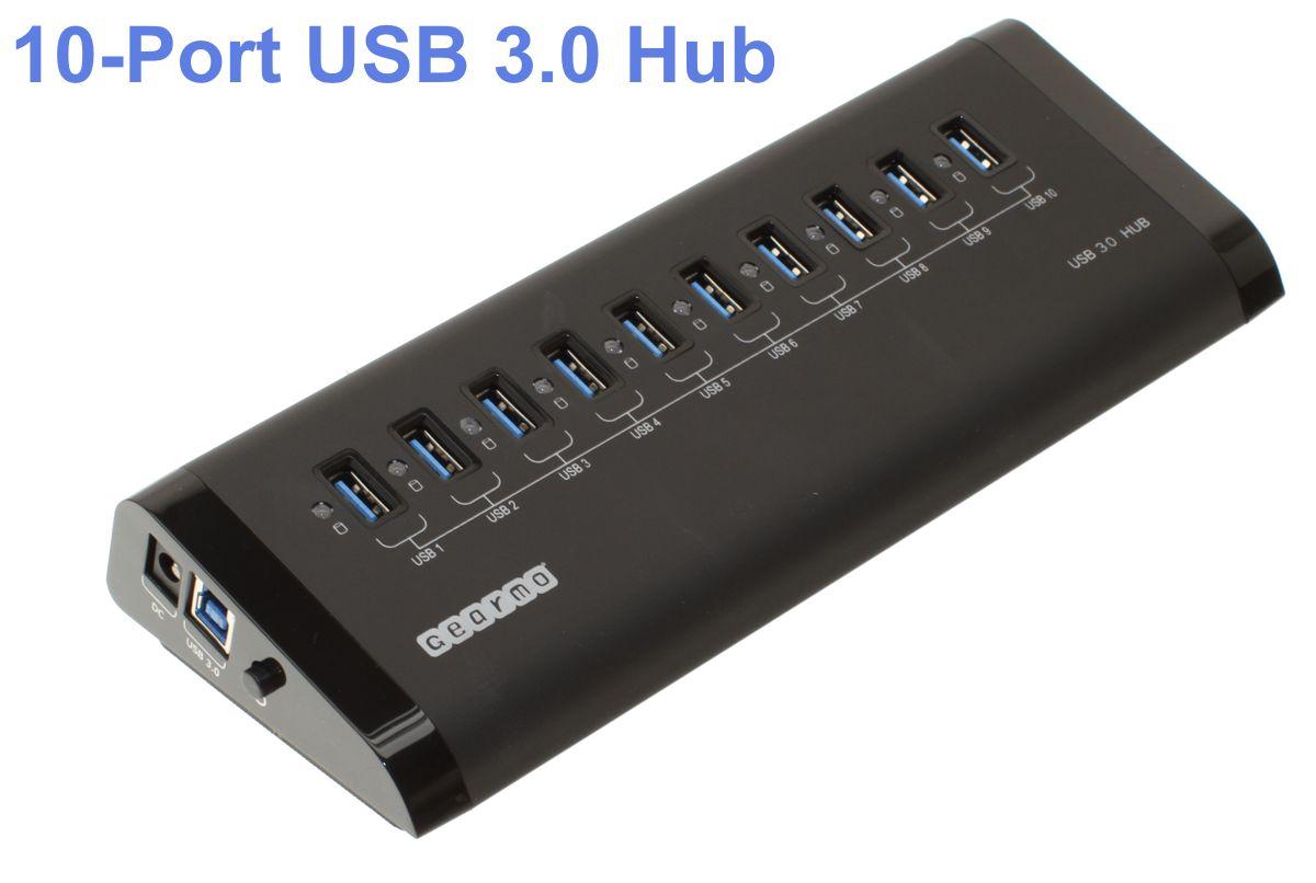 Metal USB Hub USB Hub SuperSpeed 3.0 10-Port Aluminum ...