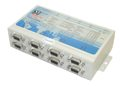 Eight Port Rs-232/422/485 DB-9 to TCPIP Netcom Advanced Serial Device Server