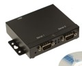 USB-2COM-SI-M - 2-Port RS-232 USB-to-Serial Adapter, with Optical-isolation and Surge Protection, Metal Case