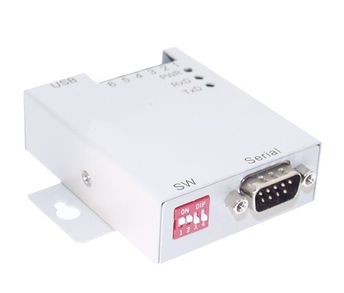 USB-COM-SI-M USB RS-232 Industrial Adapter Metal case with DIN-Rail
