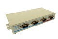 USB2-4COM-SI-M - 4-Port RS-232 USB-to-Serial Adapter, with Optical-isolation and Surge Protection, Metal Case