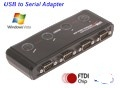 4 Port USB to Serial Adapter RS-232 with FTDI Chip for VIsta /Xp and 7