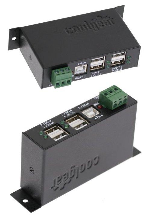 Metal USB Hub 12 Volt USB hub Industrial 4-Port USB 2.0 ...